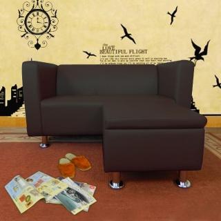 【時尚屋】小龐帝克二人座L型鐵腳沙發(ZU5-1-2T+ZU5-1-4T)
