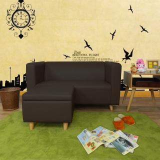 【時尚屋】小龐帝克二人座L型實木腳沙發(ZU5-1-2+ZU5-1-4)