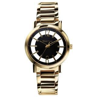 【Relax Time】RT56 輕熟風格系列鏤空腕錶-黑x金/36mm(RT-56-7)