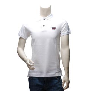【PAUL & SHARK】LOGO網眼純棉素色立領短袖POLO衫(白E14P0055SF-010)