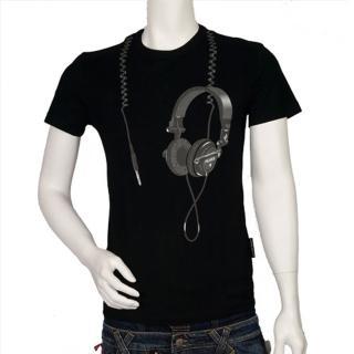 【FRANKIE】耳機造型 T-shirt(黑F7086314-NERO)