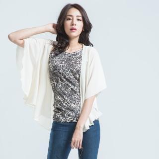 【BOBSON】雪紡紗外衣(白色)