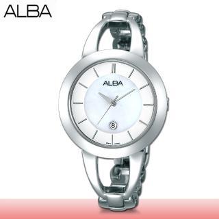 【SEIKO 精工 ALBA 系列】送禮首選_手鍊式女錶_鏡面2.6公分(AH7D15X1)