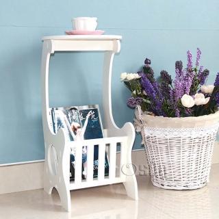 【Osun】DIY木塑板置物架 歐式白色雕花書報茶几(CE-178-書報茶几/桌)