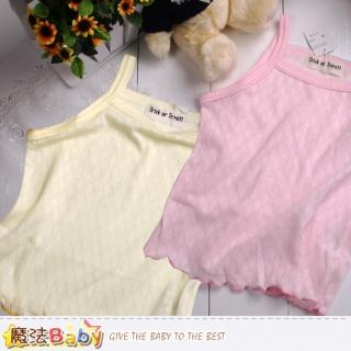 【魔法Baby】日本製女寶寶純棉細肩帶上衣(k42139)