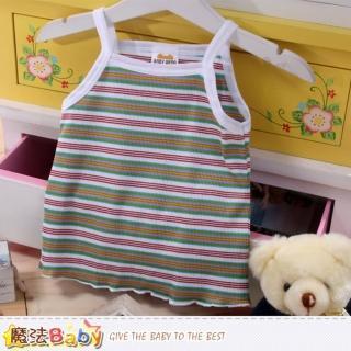 【魔法Baby】日本製女寶寶純棉細肩帶上衣(k42146)