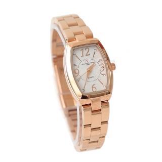 【Valentino范倫鐵諾】經典小酒桶玫瑰金腕錶手錶 奧地利水鑽