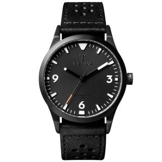【TRIWA】Sort of Black 系列 北歐葛羅風情時尚腕錶-黑(LAST118-CS010113)