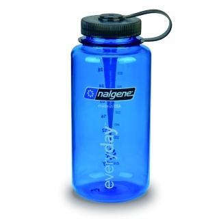 【Nalgene】寬嘴水壼1000cc(灰藍色)