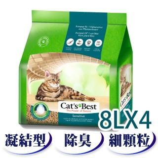 【德國凱優CAT'S BEST】強效除臭木屑砂-黑標(8LX4包)