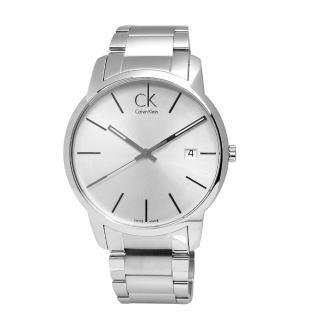 【Calvin Klein】永恆記憶 日期不鏽鋼腕錶 白色 43mm(K2G2G146)