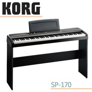 【KORG】標準88鍵電鋼琴 / 數位鋼琴含原廠琴架 / 贈耳機.琴椅 黑色 公司貨(SP-170S)