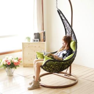 【YKSHOUSE】月牙彎單人休閒吊籃椅