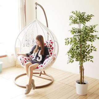 【YKSHOUSE】樂活點點單人休閒吊籃椅
