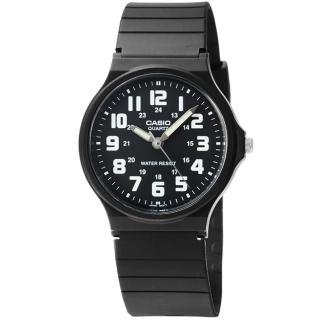 【CASIO】日系卡西歐薄型大數字石英錶-黑(MQ-71-1B)