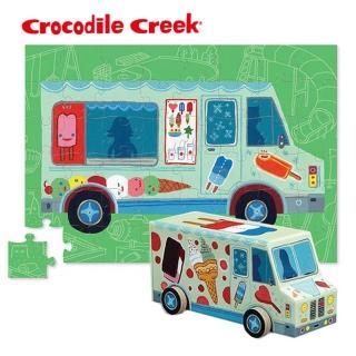 【美國Crocodile Creek】汽車造型盒拼圖系列-48片多款選擇(聖誕禮物大推薦)