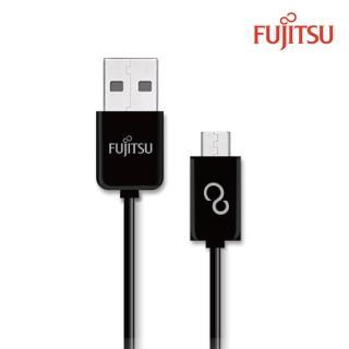 【FUJITSU富士通】MICRO USB傳輸充電圓線-100CM(黑)