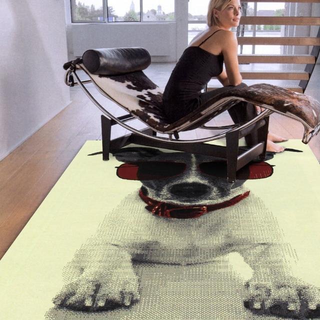 【范登伯格】紐約★流行元素進口地毯-狗(100x150cm)