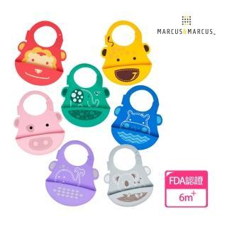 【MARCUS&MARCUS】動物樂園矽膠立體圍兜
