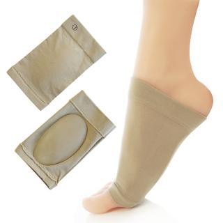 【足的美形】纖維矽膠足弓保護套(1雙)