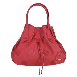 【agnes b】束口繩水桶手提包(中/紅)