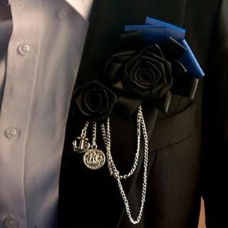 【拉福】玫瑰主持演出新郎胸花胸針(二色)