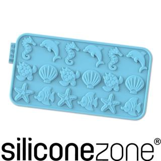 【Siliconezone】施理康耐熱矽膠海洋巧克力模(藍色)