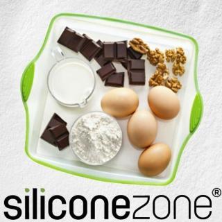 【Siliconezone】施理康耐熱矽膠正方形造型蛋糕模(透明/綠)
