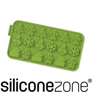 【Siliconezone】施理康耐熱矽膠聖誕節巧克力模(綠色)