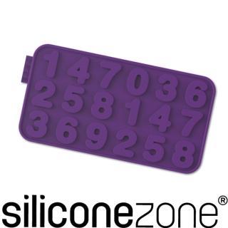 【Siliconezone】施理康耐熱矽膠數字巧克力模(紫色)