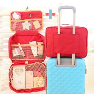 【Bunny】完美大容量創意旅行行李袋盥洗包套裝組(拉桿收納包+三折盥洗包)
