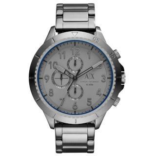 【A│X Armani Exchange】時刻終戰三眼計時腕錶-灰(AX1753)