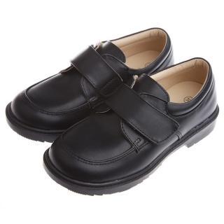 【布布童鞋】時尚經典款純黑色男童紳士皮鞋(KEM027D)