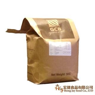 【GCB】深黑苦甜鈕扣巧克力_5kg(麵包蛋糕西點烘焙專用)