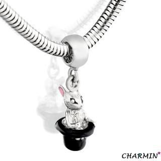 【E&I】CHARMIN-童話仙境-316L白鋼兔子造型吊飾(銀)