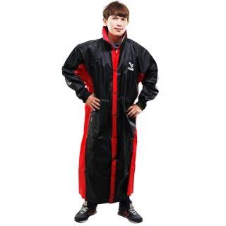【JUMP】新二代 新帥前開式休閒風雨衣-黑紅