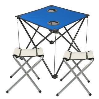 好輕巧便利折疊桌加四腳椅/休閒桌椅(1+2)