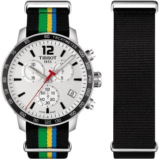 【TISSOT】QUICKSTER 2015 特別版運動腕錶-銀/42mm(T0954171703702)