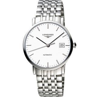 【LONGINES】Elegant 優雅系列機械錶-白/39mm(L49104126)