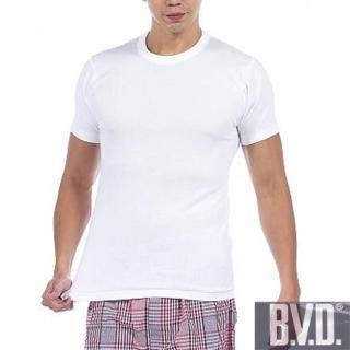 【BVD】時尚型男純棉圓領短袖內衣(5件組)
