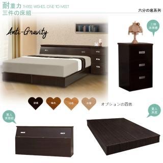 【Maslow-房東精選】雙人5尺床頭箱+6分床底+3抽櫃(4色)