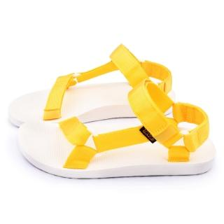 【TEVA】男女款  經典織帶涼鞋(TV1008648LEM-黃)
