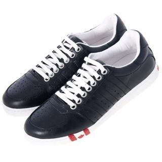 【DSQUARED】黑色皮革休閒鞋(410884B-42)
