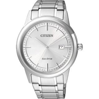 【CITIZEN】Eco-Drive 經典都會腕錶-銀/40mm(AW1231-58A)