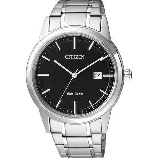 【CITIZEN】Eco-Drive 經典都會腕錶-黑/40mm(AW1231-58E)