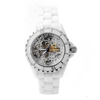 【Valentino范倫鐵諾】自動上鍊機械精密全陶瓷腕錶 雙面鏤空手錶