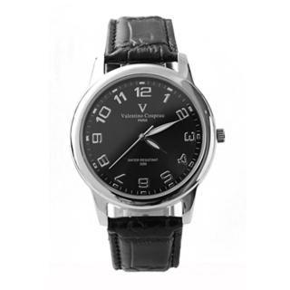 【Valentino范倫鐵諾】光碟錶盤設計真皮手錶腕錶 情人對錶