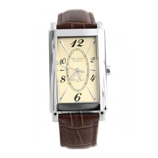 【Valentino范倫鐵諾】切割美學經典格紋皮革手錶腕錶對錶