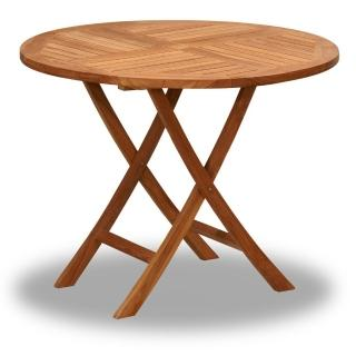 【BROTHER 兄弟牌】柚木古典折疊80cm圓桌(原木色)