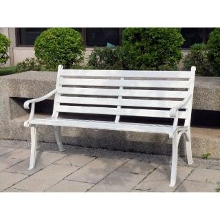 【BROTHER 兄弟牌】鋁合金雙人公園椅(白色)